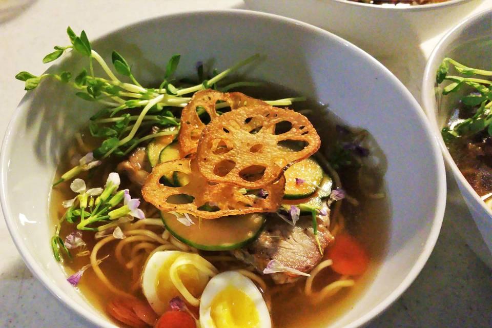 Pork belly ramen bowl