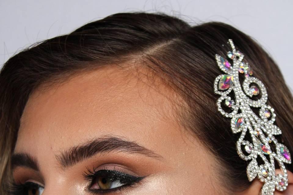 Close Up Bridal Look