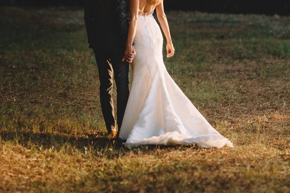 Romantic elopement tuscany