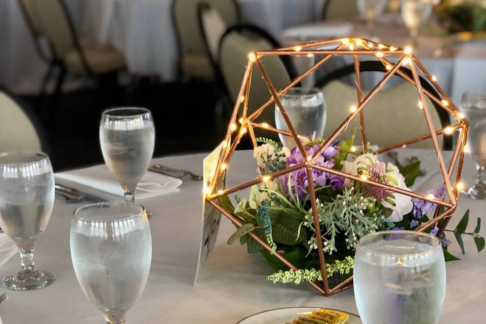 Table setting at the Pavilion