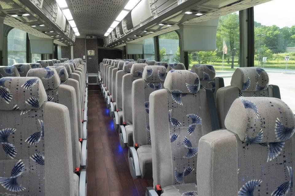 56-passenger interior