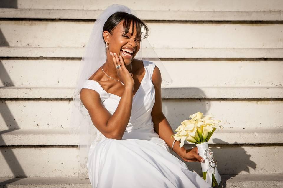 A joyful bride