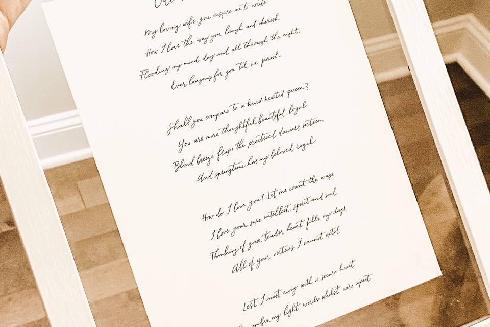 Poem written by husband