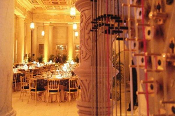 Harp in the banquet hall