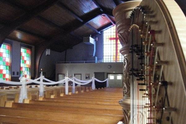 Harp in the church