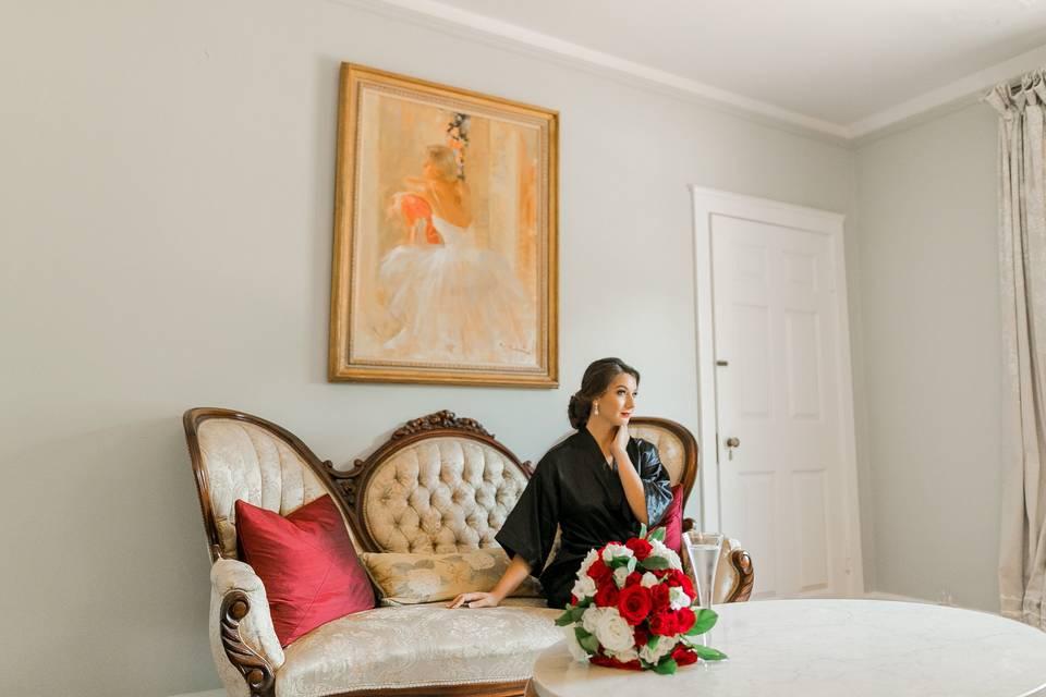 Enjoy the bridal suite