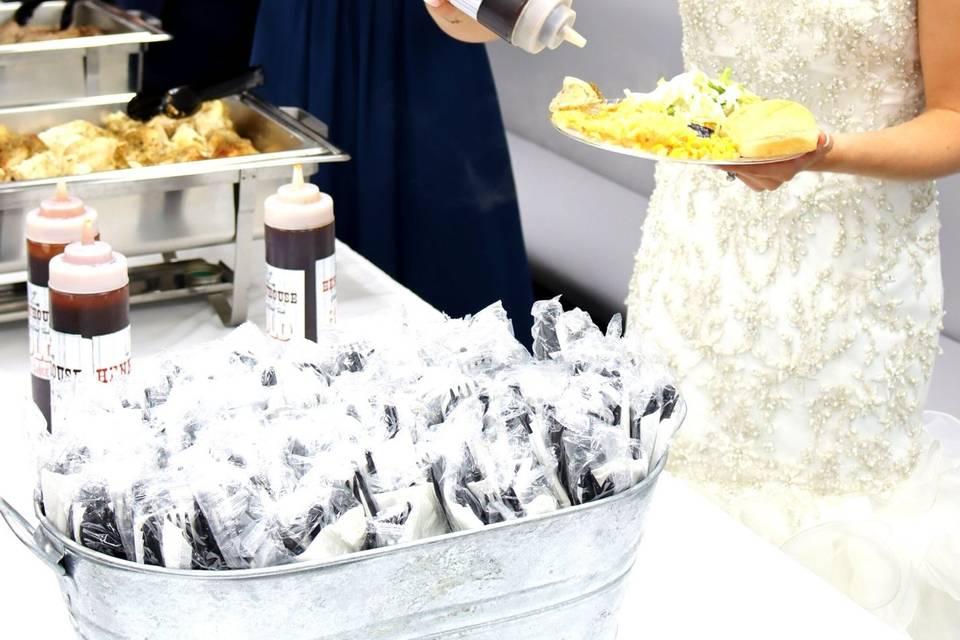 Bride at Buffet