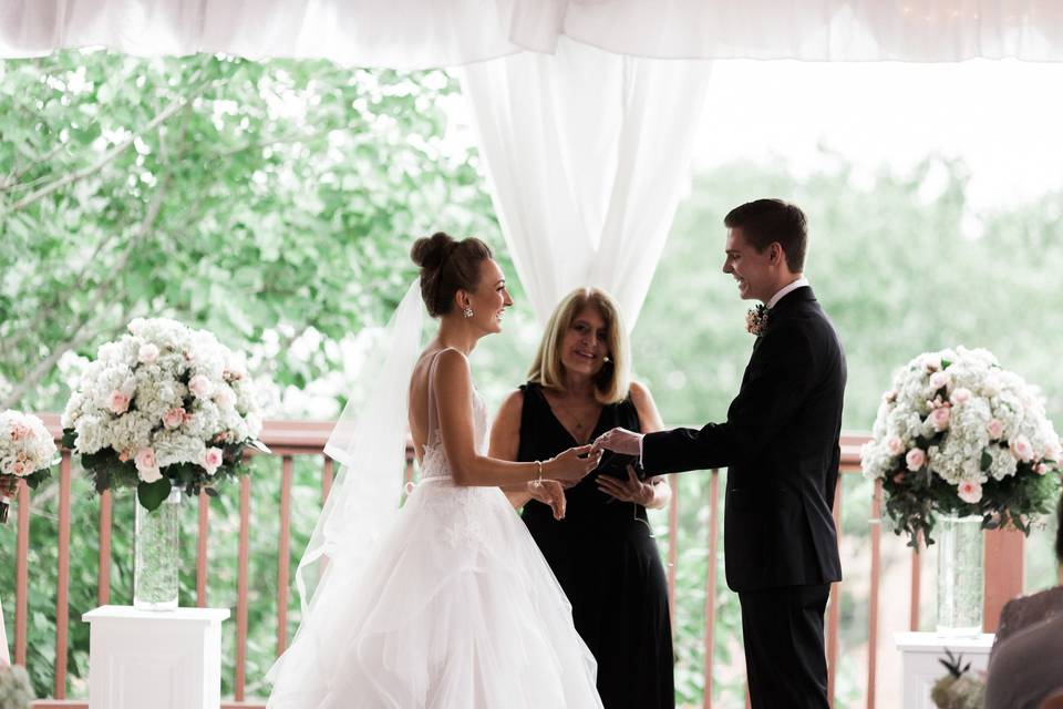 An intimate ceremony