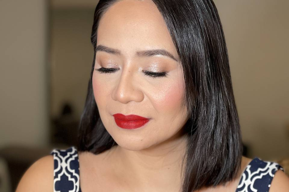 Soft glam and flawless skin