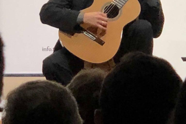 Performing in Peru