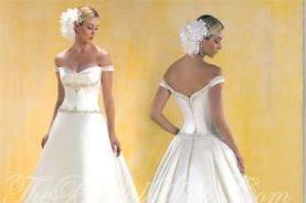 Off the shoulder style dress