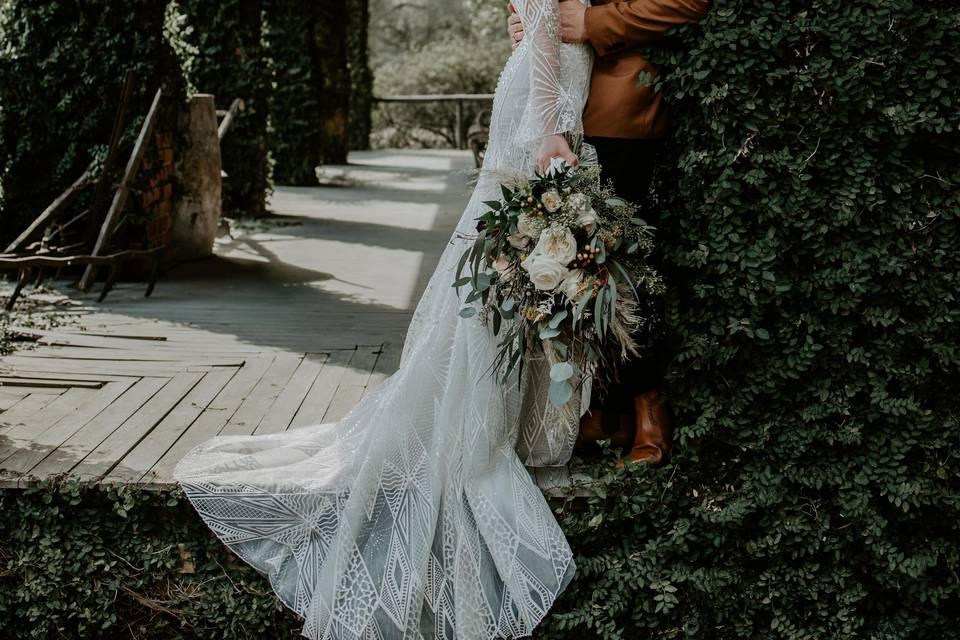 Moody Boho Copper Wedding