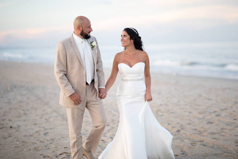 Michael & Emily on the beach