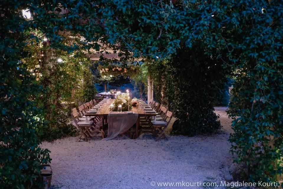 Vineyard wedding in Corfu