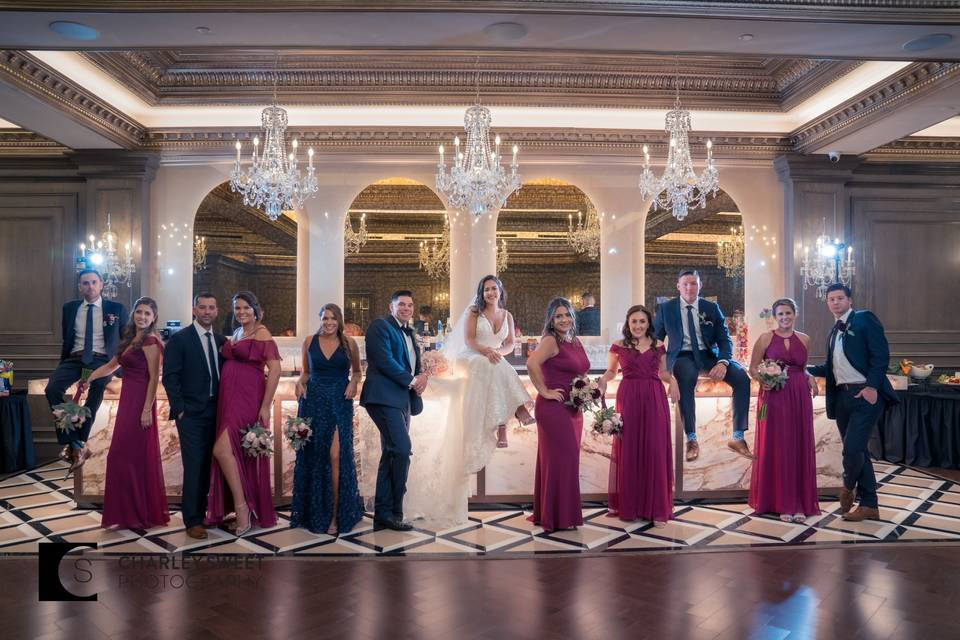 Wedding party in the Randolph Room