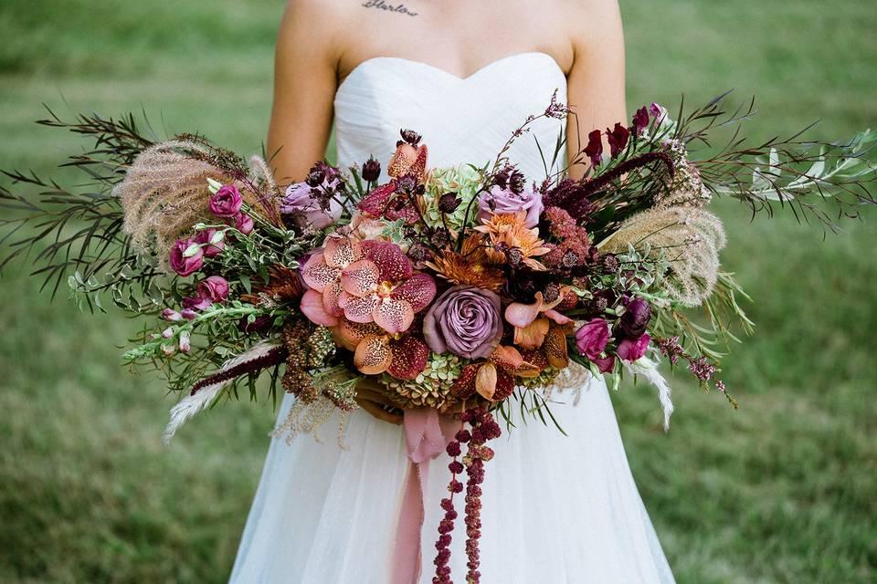 Lush Fall Bridal Bouquet