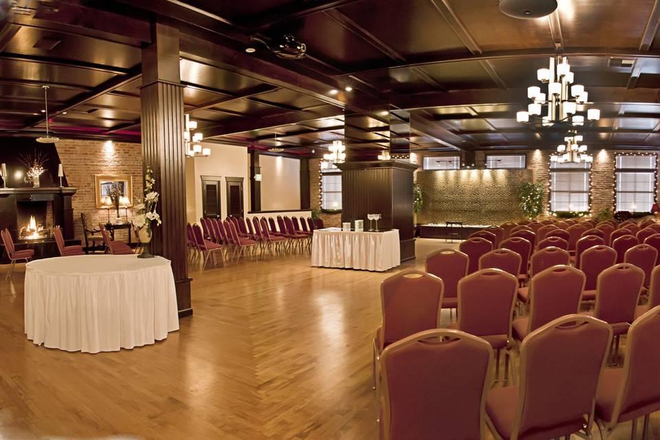 Indoor wedding arrangement