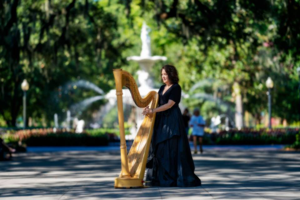 Golden Silk Harp