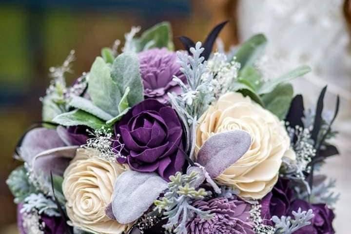 Frosty purple bouquet
