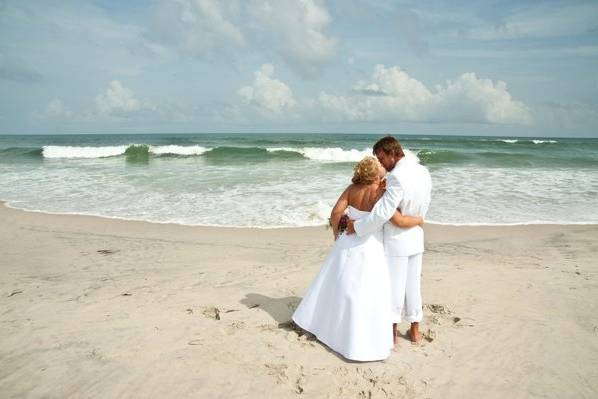 Couple by the beach