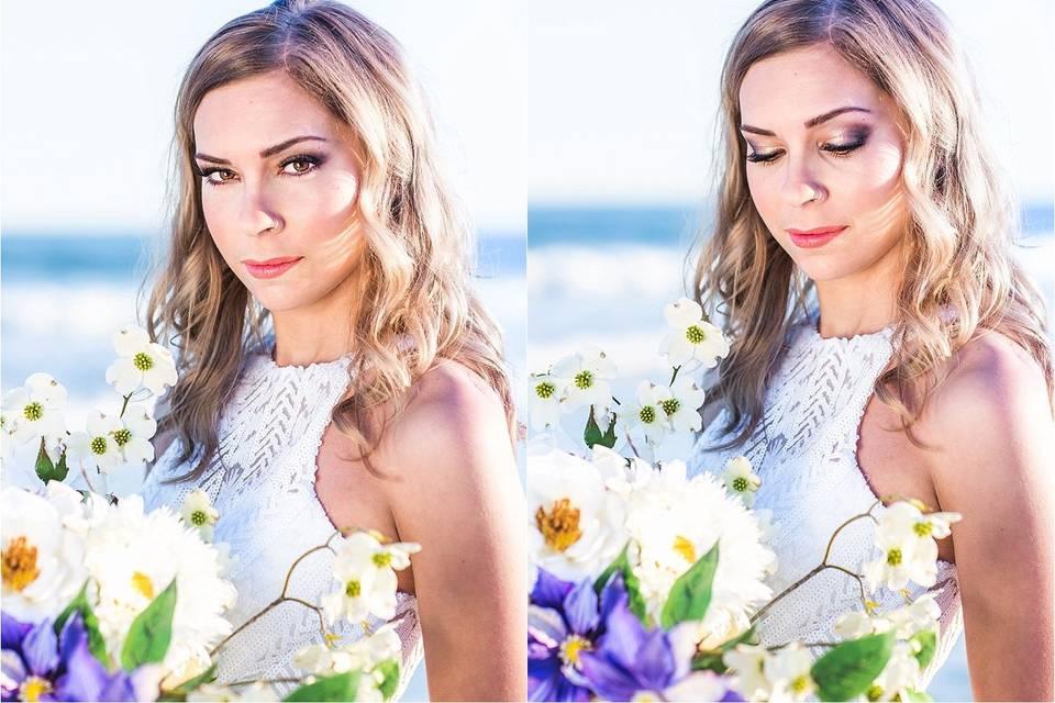 A beautifully modern beach Bride
