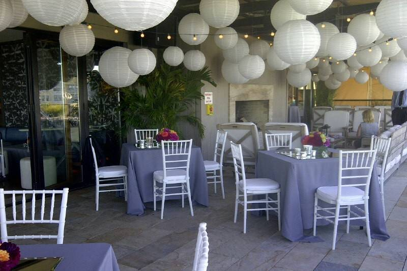 Lavender table setup