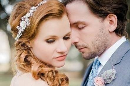 Romantic portrait of the couple
