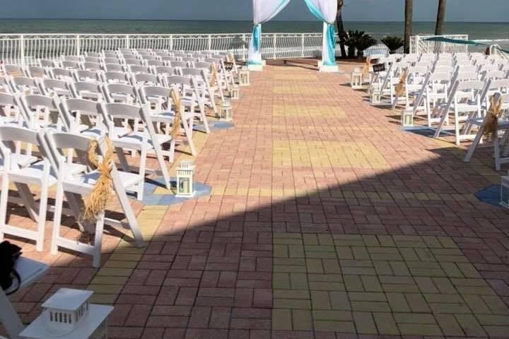 Wedding on the terrace