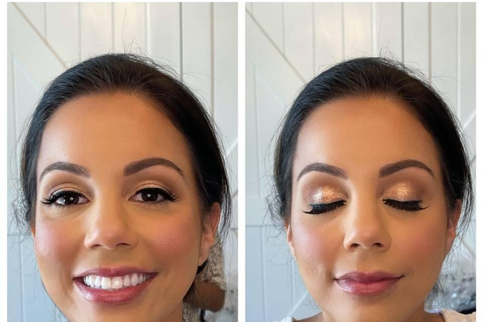 Glam Bridesmaid Makeup