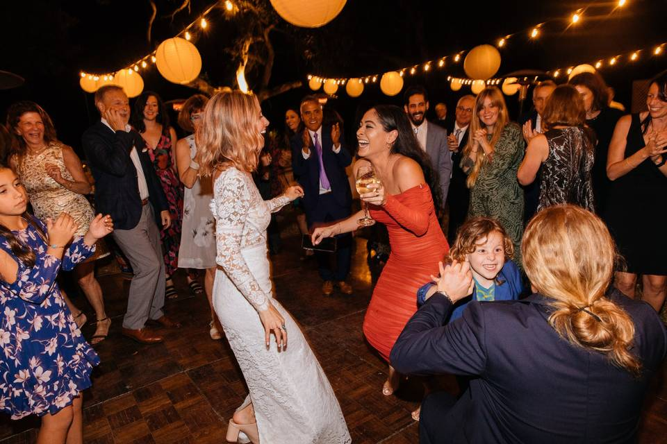 Dancing with family & friends