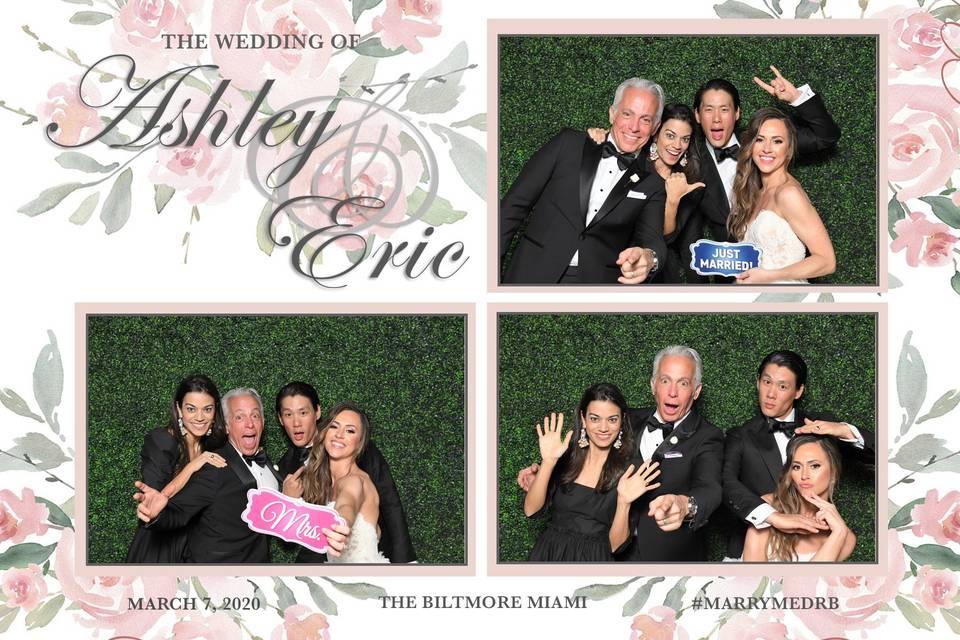 Celebrity wedding photo booth