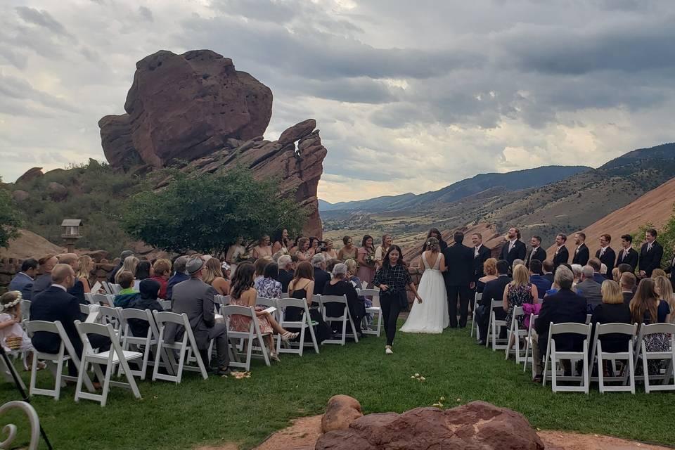 Red Rocks ceremony
