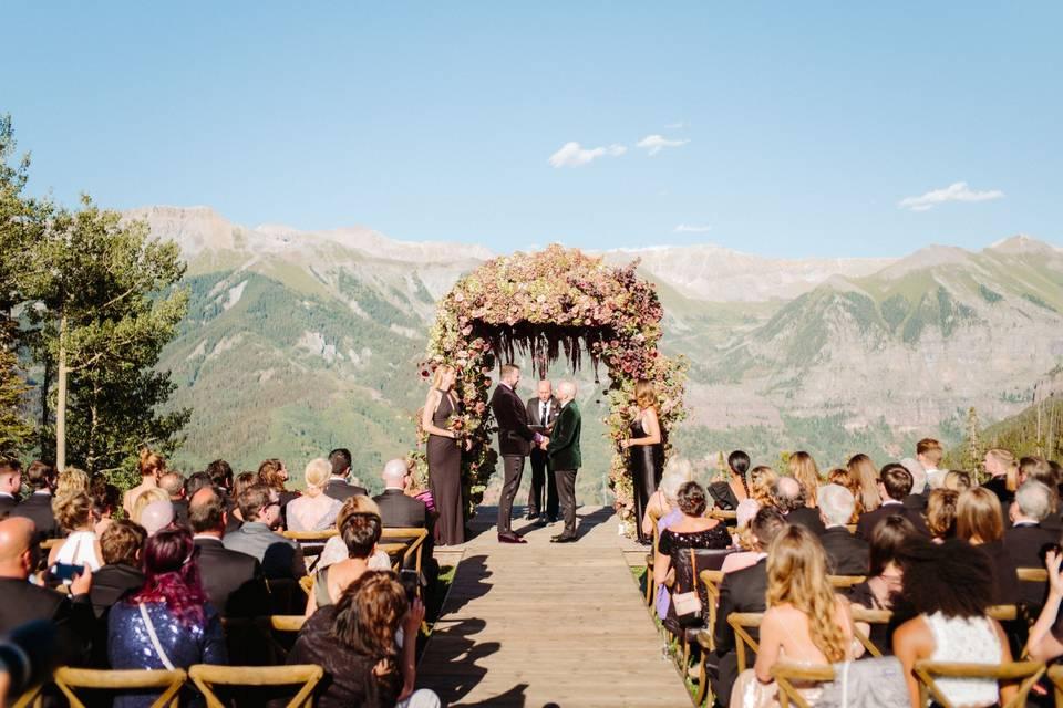 San Sophia Overlook wedding ceremony- Francis Sylvest
