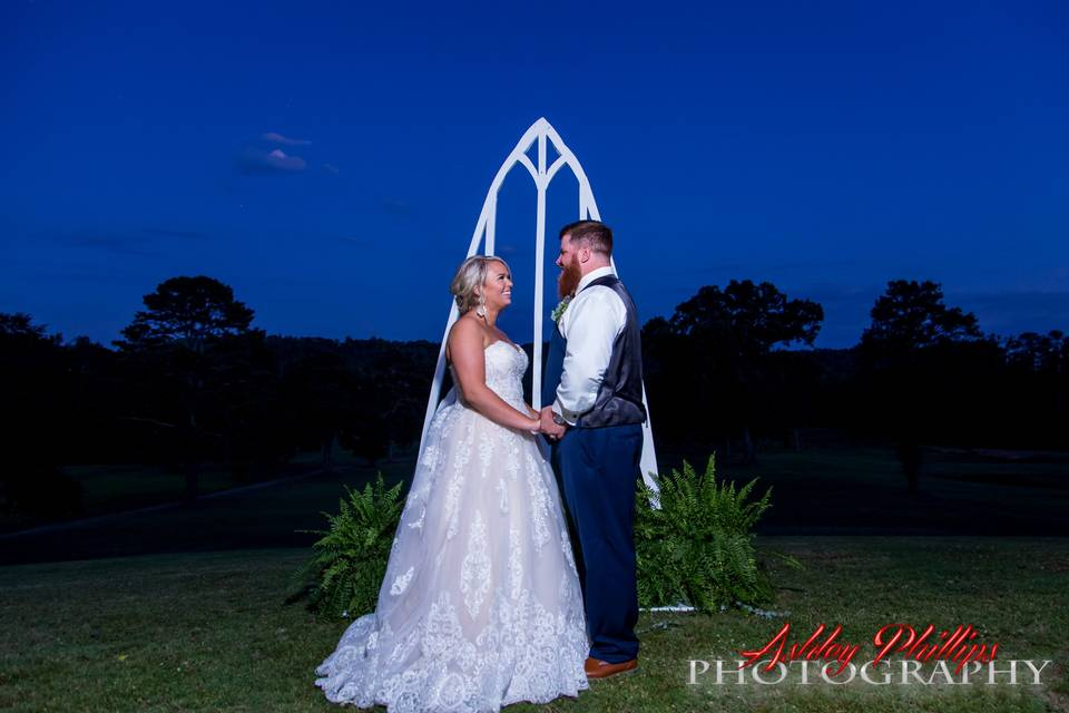 After the ceremony, starlight