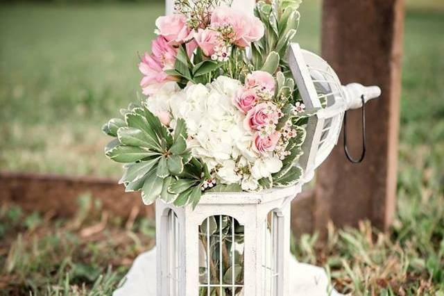 Floral lantern decor
