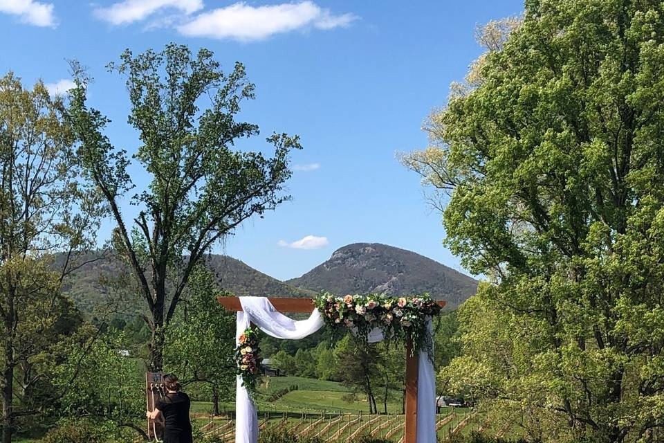 Yonah Mountain view with arch