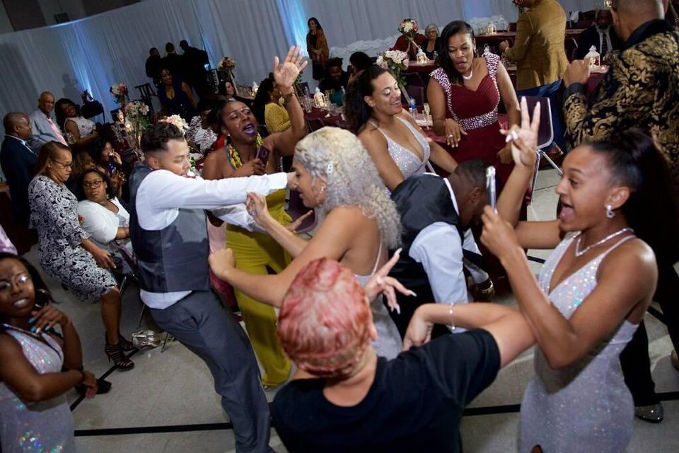 Having a good time dancing