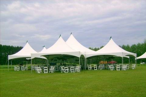 Hexagon tent with 4 - 20 x 20's