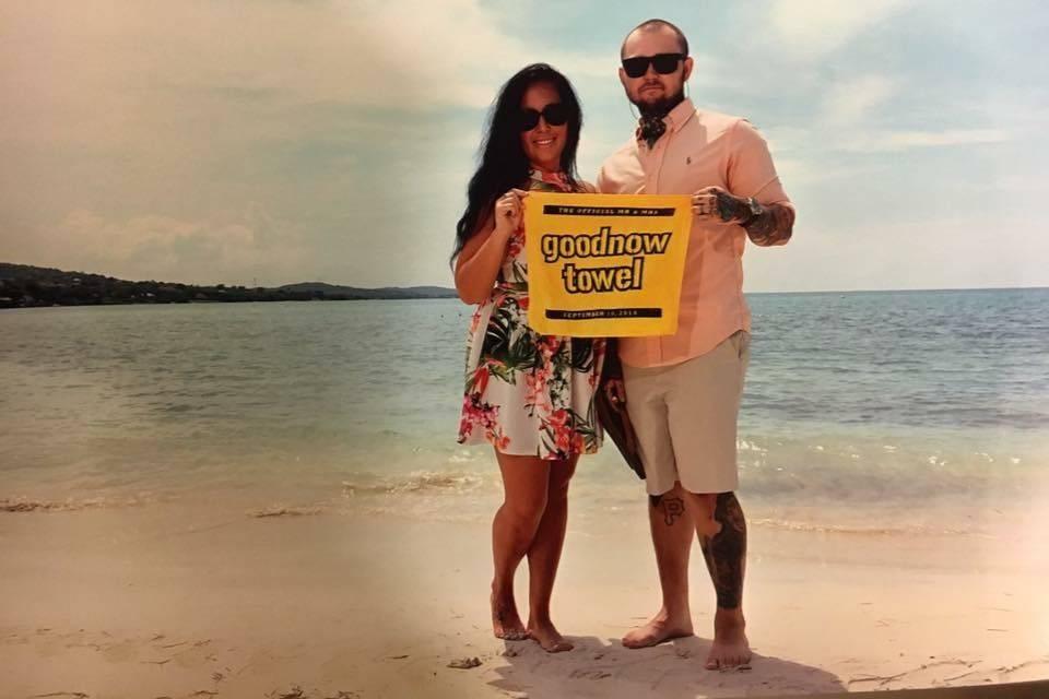 Happy honeymooners at Sandals South Coast