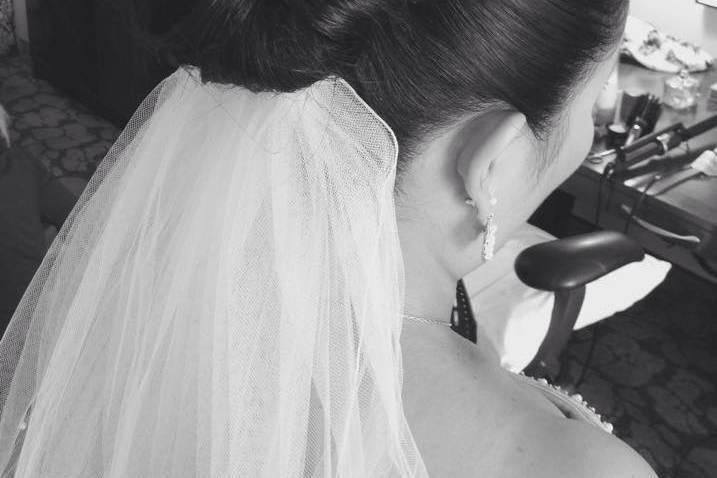 Clean classic bridal updo