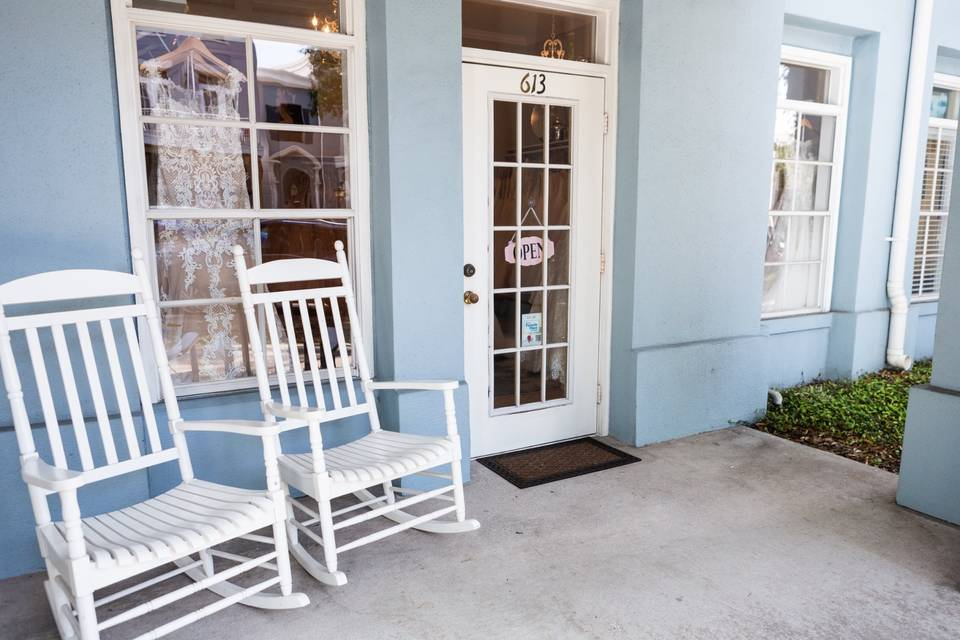 Our sweet front porch!