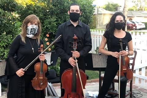 A masked string trio