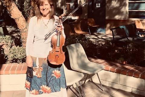 A solo violinist