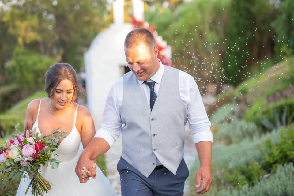 Greek Garden  Inspired Wedding
