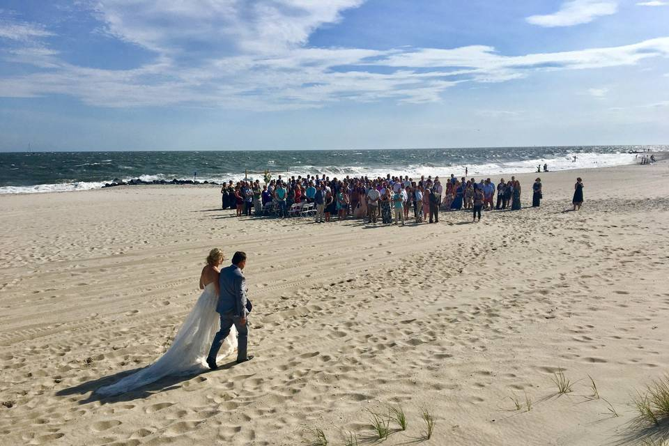 Beach ceremony at Cape May