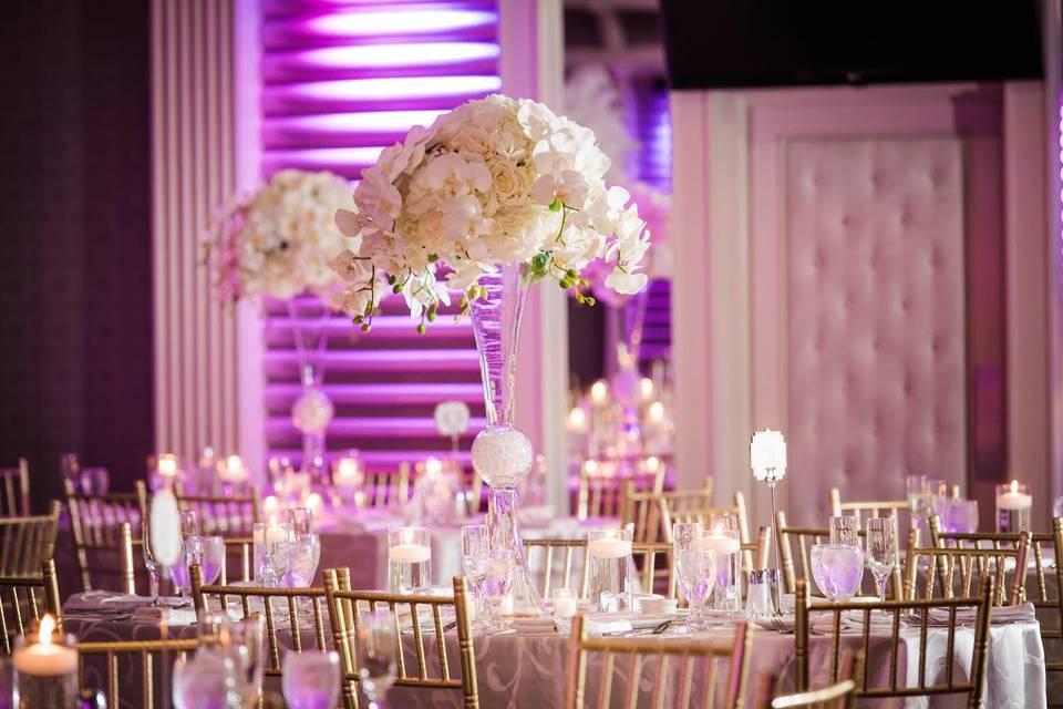 Tall white flower centerpiece