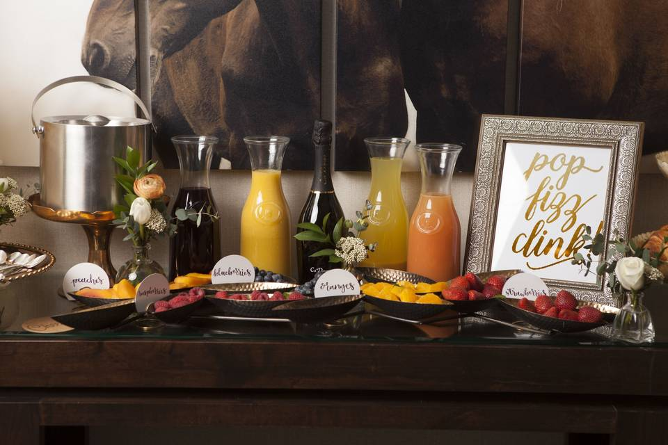 But First, Brunch! Enjoy our mimosa bar package with your bridesmaids on the Terrace before the party begins!