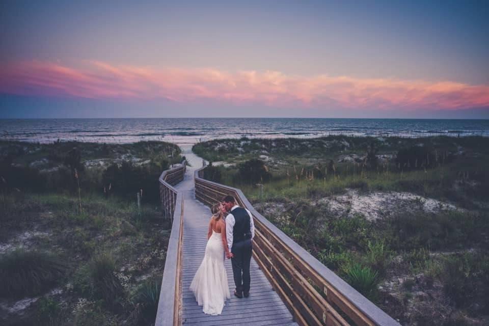 Beach walkway by Shorehouse