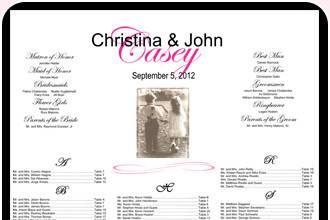 Christina and John's wedding