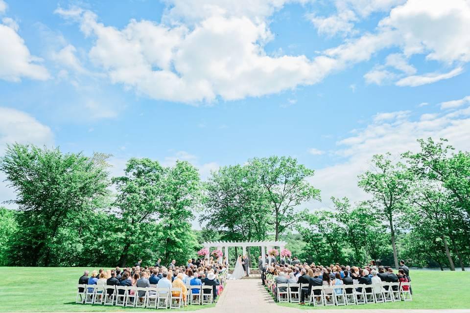 West Garden ceremony